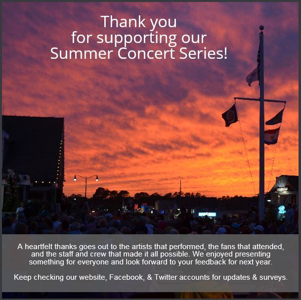 Thanks for supporting our Summer Concert Series