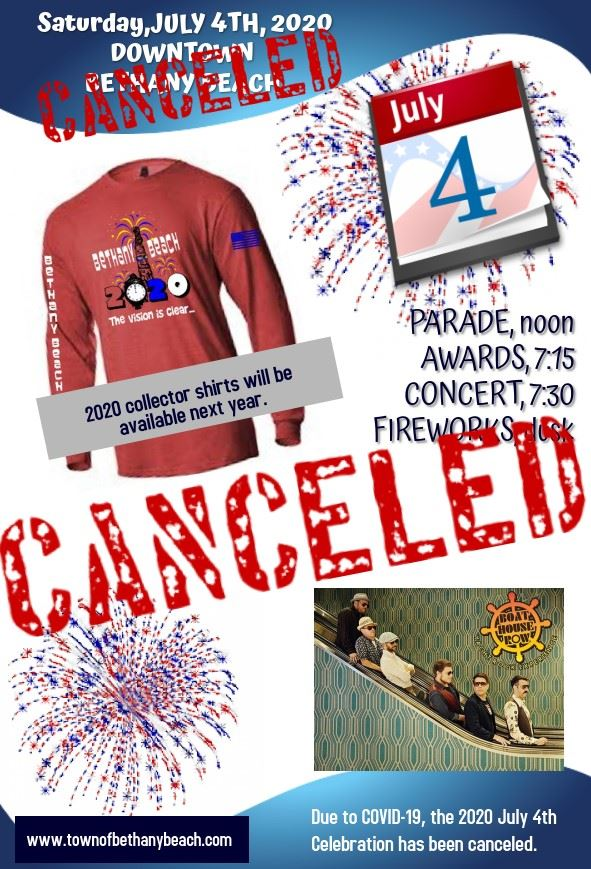 4TH OF JULY 2020 CANCELED